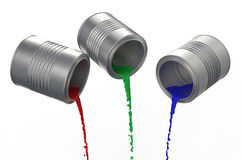 Spilled paints Royalty Free Stock Photography