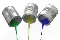 Spilled paints Stock Images