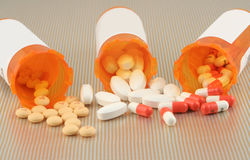 Spilled pills Stock Images