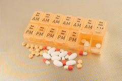 Spilled pills Royalty Free Stock Photo