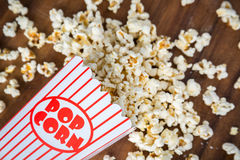 Spilled Popcorn Royalty Free Stock Images