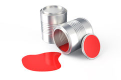 Spilled  red paint Royalty Free Stock Image