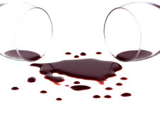 Spilled Red Wine Royalty Free Stock Photography
