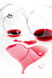 Spilled red wine Stock Image