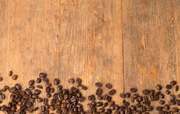 Spilled roasted coffee beans Royalty Free Stock Image