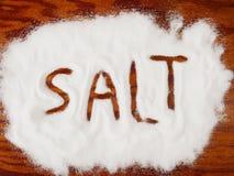 Spilled salt Stock Photos