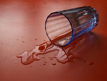 Spilled water Stock Photography
