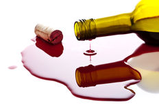 Spilled wine Stock Image