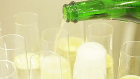 Spilling champagne stock video footage