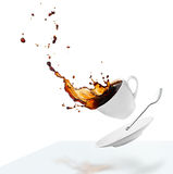 Spilling coffee royalty free stock photo
