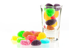 Spilling colorful candy. A lot of colorful sweets Stock Images