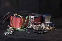 Spilling jewellry Stock Images