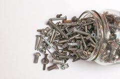 Spilling old screws Stock Image