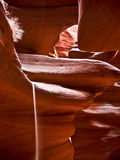 Spilling sand in Antelope Canyon Royalty Free Stock Photography