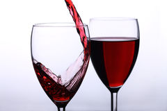 Spilling wine Royalty Free Stock Photography