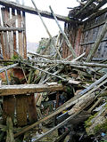 Spillror och fördärvar av huset som förstörs av kraftig earthqu Fotografering för Bildbyråer