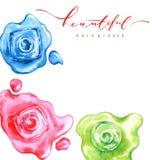 Spillt färgrikt spikar polermedelflaskan, vattenfärgillustration på vit, skissar, danar Skönhet och skönhetsmedelbakgrund royaltyfri illustrationer