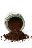 spillt kaffe 3 arkivfoto