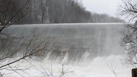 Spillway dam stock footage