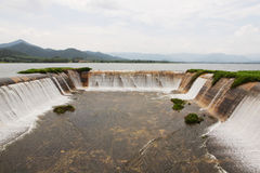 The spillway of the dam catchment Royalty Free Stock Image