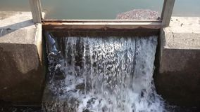 Spillway on the dam. stock footage