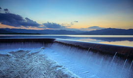 Spillway at dusk Royalty Free Stock Image
