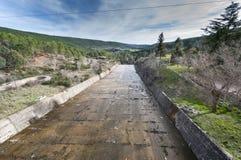 Spillway of the El Vado Reservoir Royalty Free Stock Image