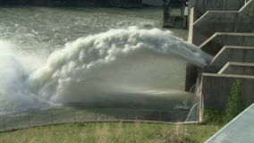Spillway of the Ghost Hydroelectric Dam stock video footage