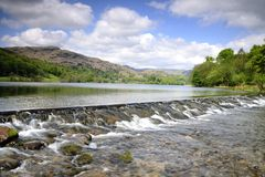 Spillway on Grassmere Stock Image