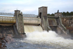 Spillway on hydroelectric power station Stock Photos