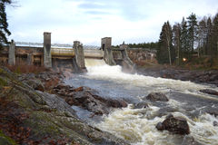 Spillway on hydroelectric power station Royalty Free Stock Image