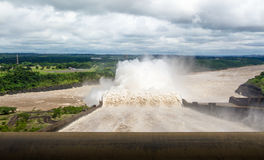 Spillway of Itaipu Dam - Brazil and Paraguay Border Royalty Free Stock Photography