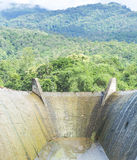 Spillway and the mountain Royalty Free Stock Photo