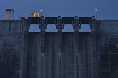 Spillway at night Royalty Free Stock Images
