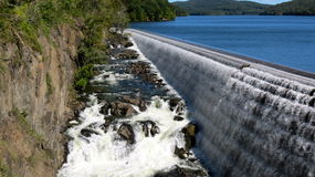Spillway at Old Croton Dam Royalty Free Stock Images