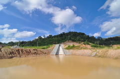 Spillway at Phuket Dam. Thailand dry due to drought Stock Photography