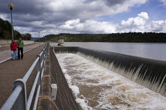 Spillway in the reservoir of San Rafael de Navallana Royalty Free Stock Photo