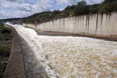 Spillway in the reservoir of San Rafael de Navallana Stock Photo