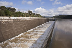 Spillway in the reservoir of San Rafael de Navallana Stock Photos