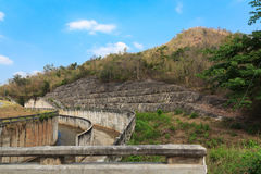 Spillway and the reservoir in Thailand. Stock Images