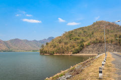 Spillway and the reservoir in Thailand. Stock Image