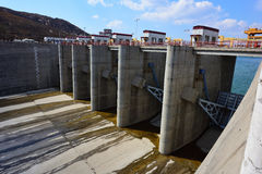 Spillway and sluice Royalty Free Stock Image