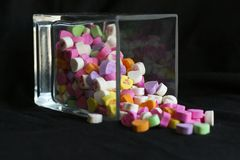 Spilt Candies Stock Photography