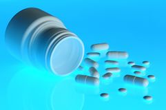 Spilt pills Royalty Free Stock Image
