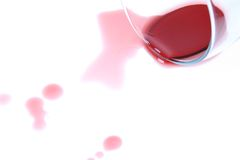 Spilt Wine Stock Image