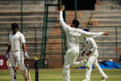 Spin bowler. Harbhajan Singh bowls spin during the Irani Cup game in Bangalore Royalty Free Stock Images