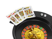Spin casino roulette Stock Photo
