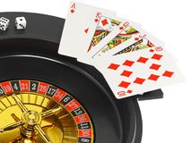 Spin casino roulette Royalty Free Stock Photo