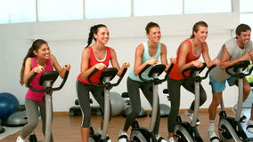 Spin class working out Stock Photography