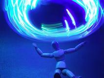 Spin doll lighting stock photo